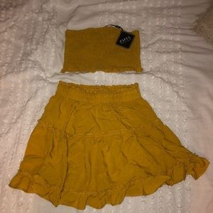 Zaful Yellow Two-Piece